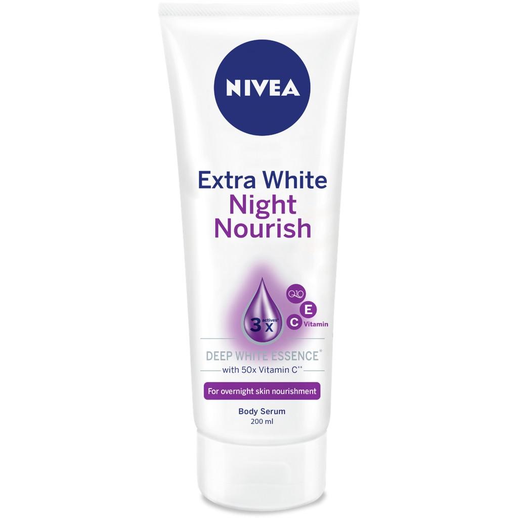 Tinh chất dưỡng thể dưỡng trắng Nivea ban đêm 200ml - 89122