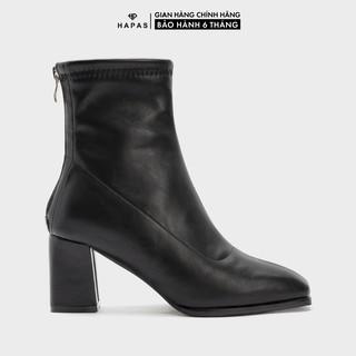 Giày Bốt Nữ Boot Da Mịn Cổ Cao 5Phân HAPAS - BOT546