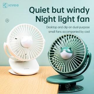 [Mã khuyến mãi KIVE20215 Giảm 15% toàn cửa hàng] Quạt để bàn mini nhiều màu Kivee FA09, đèn LED, có thể xoay 360 độ