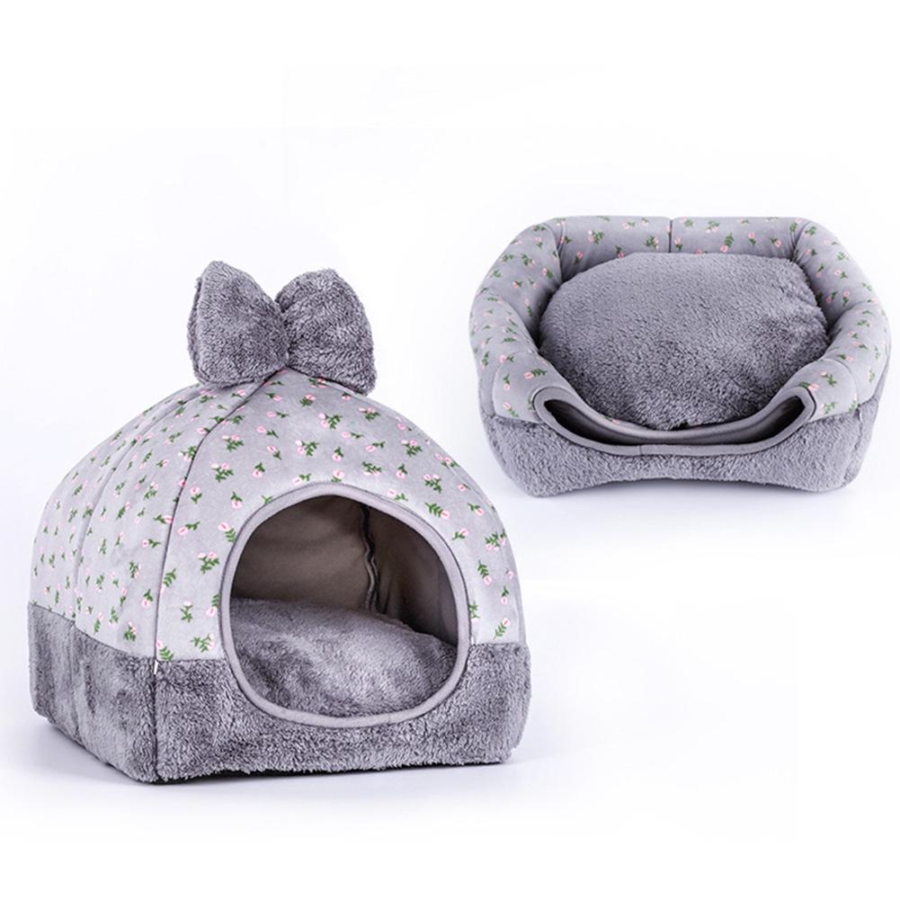 Kitten Cute Bowknot Mongolian Foldable Durable DIY Pet Supplies For Dog/cat House
