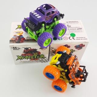 Xe ô tô, xe địa hình đồ chơi quán tính, bánh đà cho bé nhiều màu sắc ( ngẫu nhiên) chất liệu nhựa an toàn