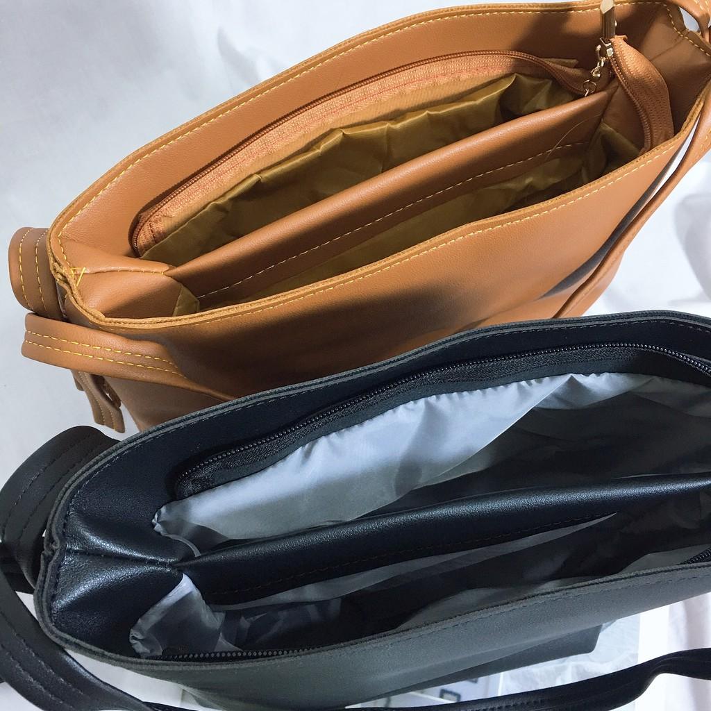 Túi tote nữ Shynstores - túi tote basic trơn hai ngăn dây chỉnh form rộng đựng vừa a4
