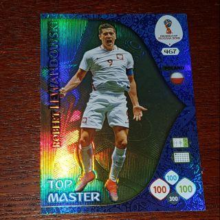 Lewandowski Top Master Panini world cup 2018 ( thẻ cầu thủ )