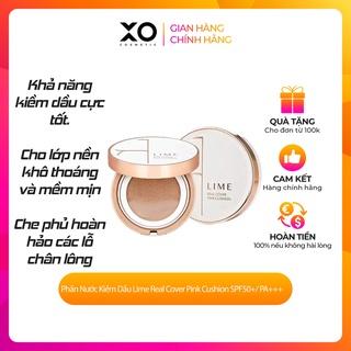Phấn Nước Kiềm Dầu Lime Real Cover Pink Cushion SPF50+ PA+++ 20g cho lớp nền khô thoáng và mềm mịn thumbnail