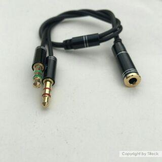 [Mã ELORDER5 giảm 10k đơn 20k] Jack gộp mic và audio đầu 3.5mm (Loại tốt mạ vàng)