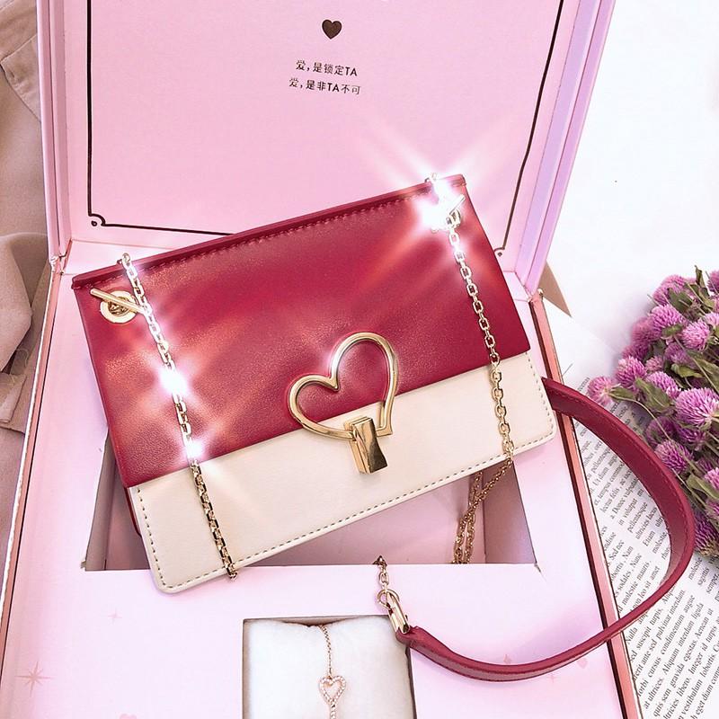 New small bag female 2019 new chain girl small bag Korean ve