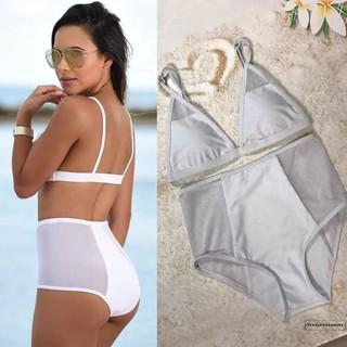 Bộ Bikini Cạp Cao Phối Dây Gợi Cảm Cho Nữ