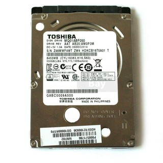 Ổ cứng laptop SLIM TOSHIBA 500GB sata