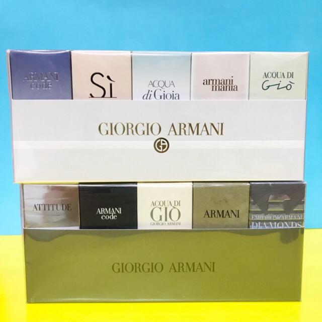 Set nước hoa Armani 5 chai của nam