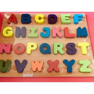 Bảng ghép chữ, số gỗ
