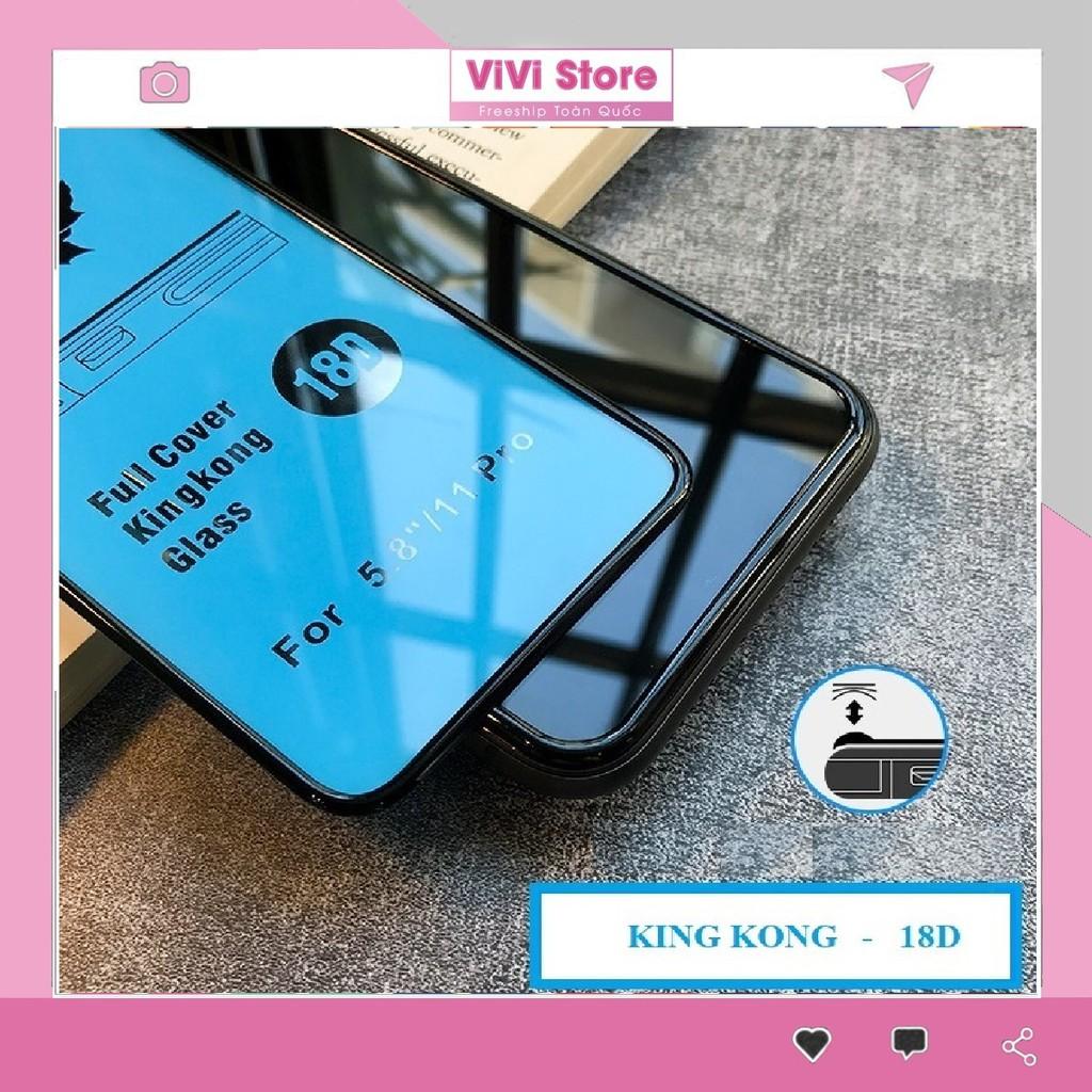 Kính cường lực 18D King Kong chống vỡ viền Iphone 7plus/8plus/x/xs max/11/11 Pro Max/12 Pro Max - Full Box