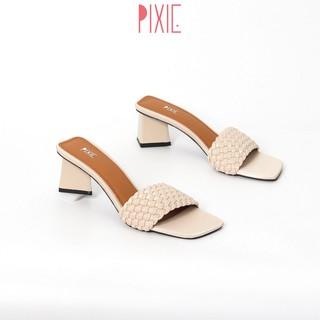 Guốc Cao Gót 5cm Quai Thắt Bím Pixie X551