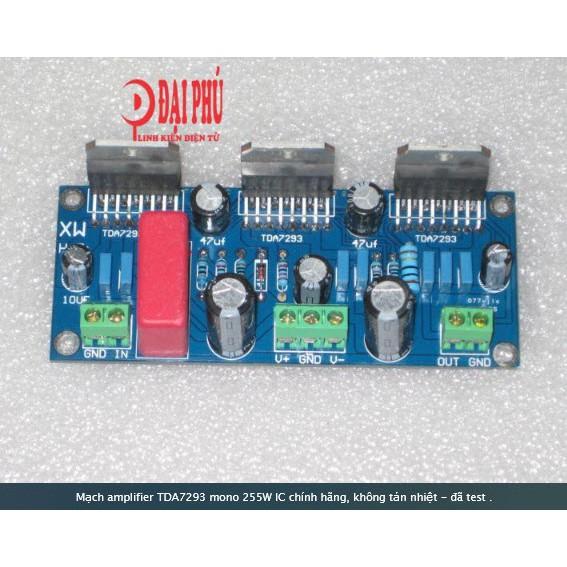 Mạch amplifier TDA7293 mono 255W IC chính hãng, không tản nhiệt - đã test