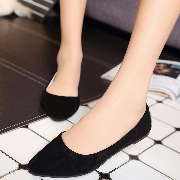 Giày Búp Bê Mũi Nhọn Thời Trang Hàn Quốc Cho Nữ