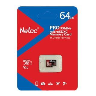 [Mã ELFLASH5 giảm 20K đơn 50K] Thẻ Nhớ Netac 64GB U3 Pro Micro TF Tốc Độ Cao 95MB/S - Chính Hãng.