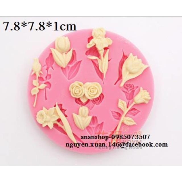 Khuôn silicon 3D hoa tuylip