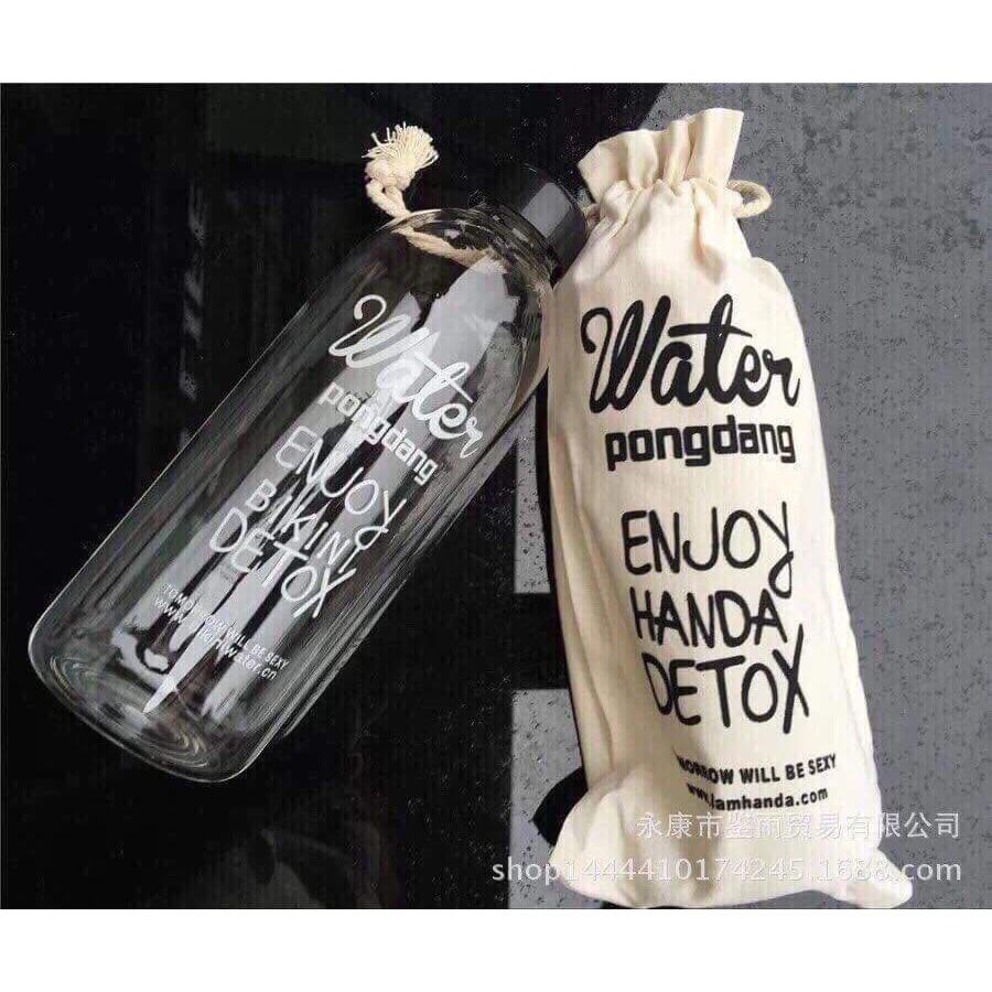 Bình nước nhựa Pongdang có túi đựng