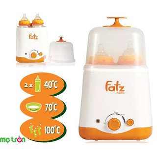 Máy hâm và tiệt trùng bình sữa đa năng 2 bình cổ rộng Fatzbaby THẾ HỆ MỚI FB3012SL NEW thumbnail