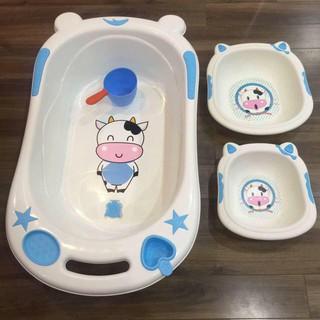 [Nhập TKBSUPERSALE1 giảm 10%] [Sale]Chậu tắm cho bé(tặng chậu rửa mặt)