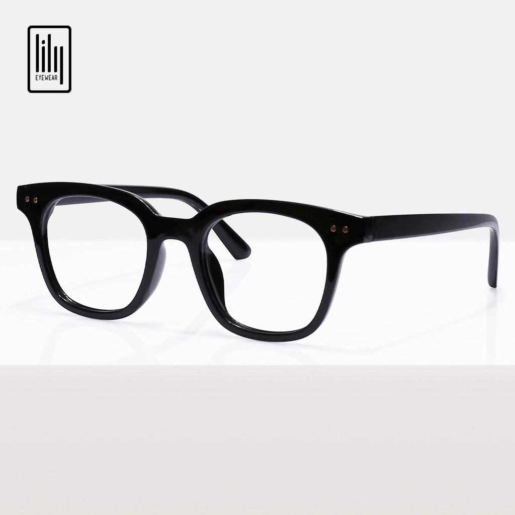 Gọng kính cận mắt vuông chữ V thời trang nam nữ Lilyeyewear 6810