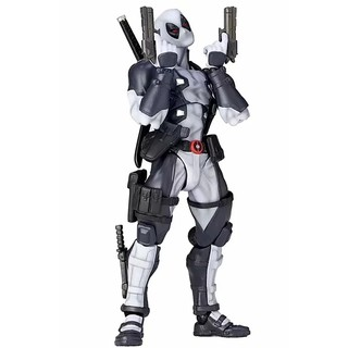 Revoltech Series NO.001 Deadpool Gray Color Ver. PVC Action Figures Collectible Model Anime Figure Kids Toys Doll