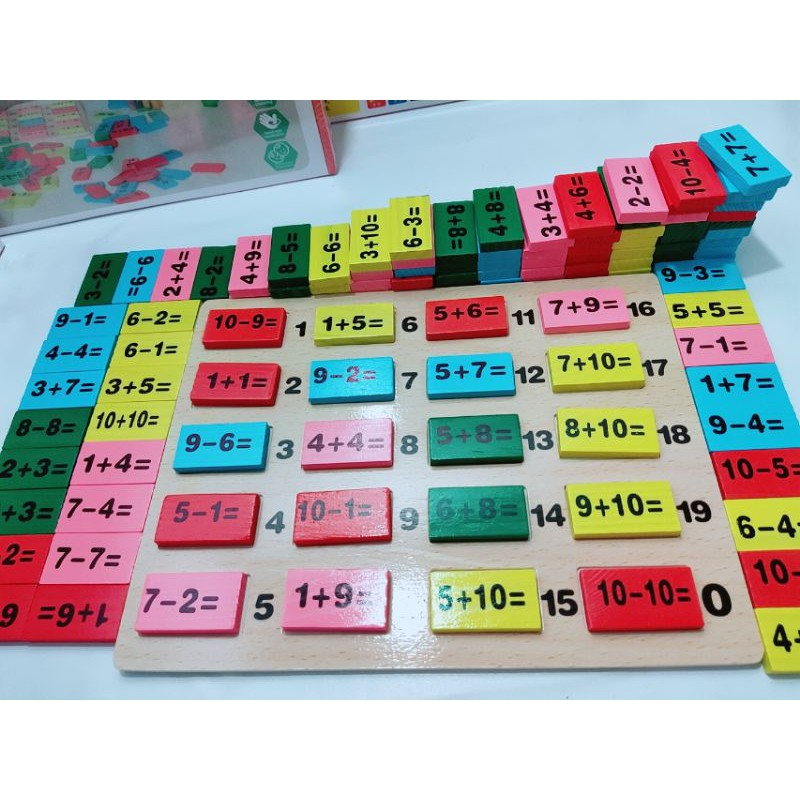 Bảng domino toán học