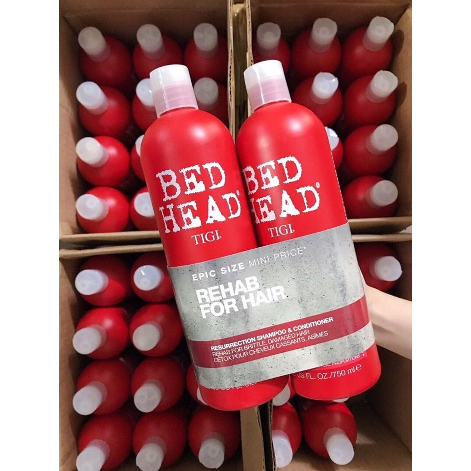 Cặp Dầu Gội - Xả TIGI Bed Head Màu Đỏ Chính Hiệu Siêu Mượt Tóc