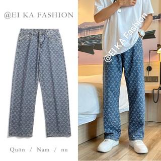 Quần Jeans Ống Đứng In Họa Tiết Phong Cách Hàn Quốc Size S-3XL Cho Nam