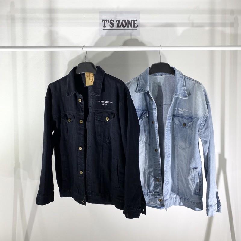 [Mã INCU1114 giảm 25% đơn 99K] Áo khoác jeans offwhite 2021 unisex fom rộng kèm ảnh và video thật ( áo bò )