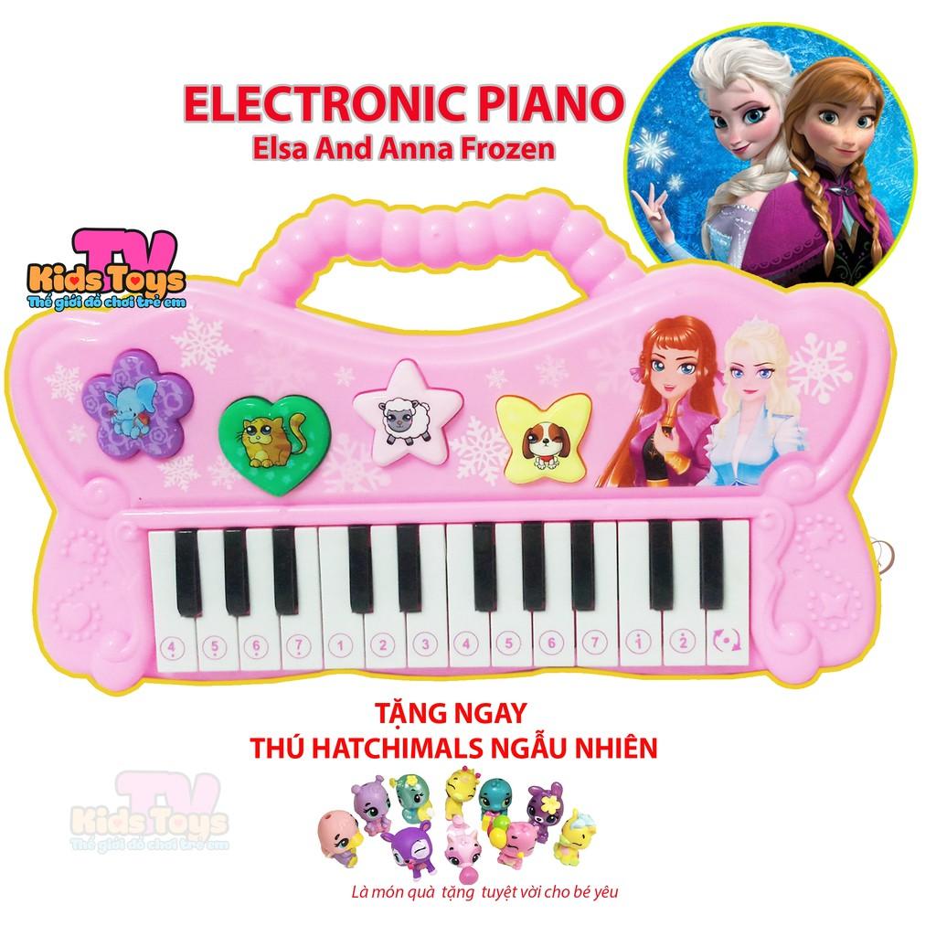 (QUÀ TẶNG) Đồ chơi đàn công chúa Elsa & Anna gồm 17 giai điệu và âm thanh con vật hỗ trợ và phát huy trí não cho bé