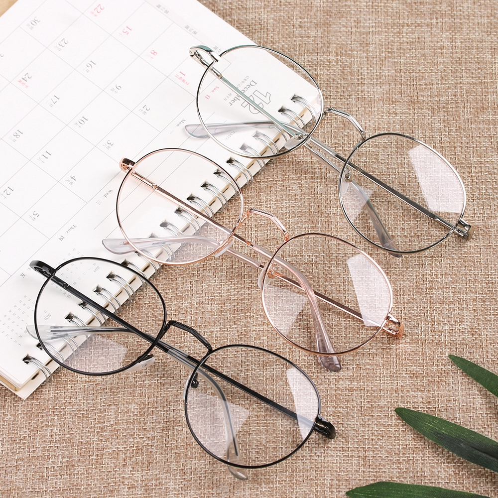 ONLY Flexible Portable Round Ultra Light Resin Metal -1.00~-4.0 Diopter Myopia Glasses