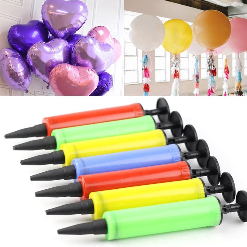 2pcs Mini Inflator Hand Air Action Ballon Tool Balloon Pump