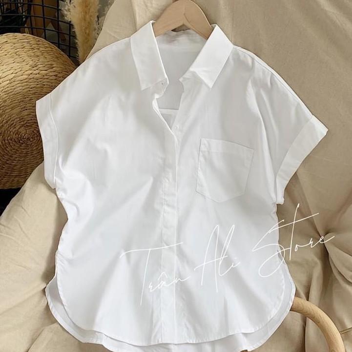[Mã FAMAYWA giảm 10K đơn 50K] áo sơ mi nữ màu trắng cánh dơi xinh xắn