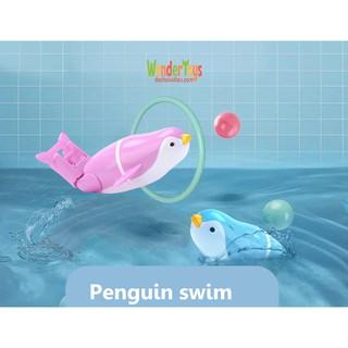 Đồ chơi chim cánh cụt bơi tự động thả nhà tắm – Penguin Happy Swimming