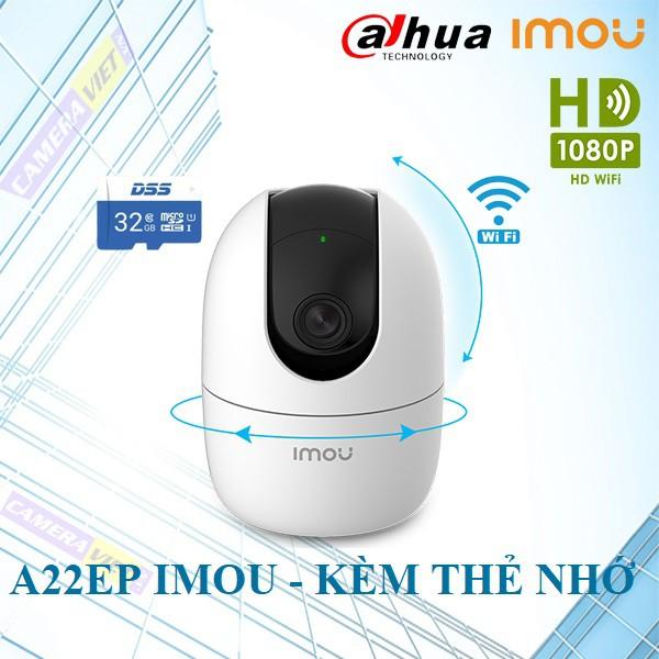 Camera IP Wifi 2.0MP Ranger 2 IPC-A22EP-IMOU Kèm Thẻ Nhớ - Hàng Chính Hãng