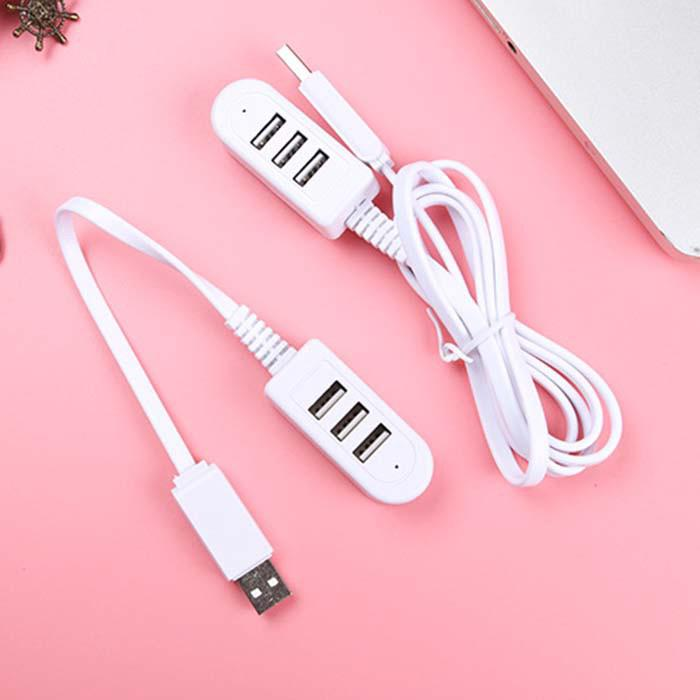 Bộ chia cổng USB 2.0 3 cổng tốc độ cao kèm dây cáp Laptop 1.2m(Only Charging Function,not support data transmission)