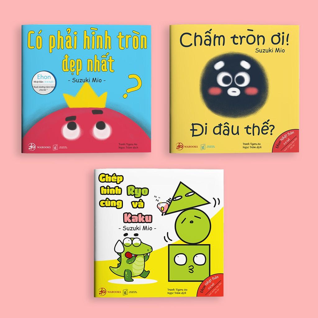 Sách Ehon - Combo 3 cuốn Điều kỳ diệu của hình khối - Ehon Nhật Bản dành cho bé từ 0 - 6 tuổi