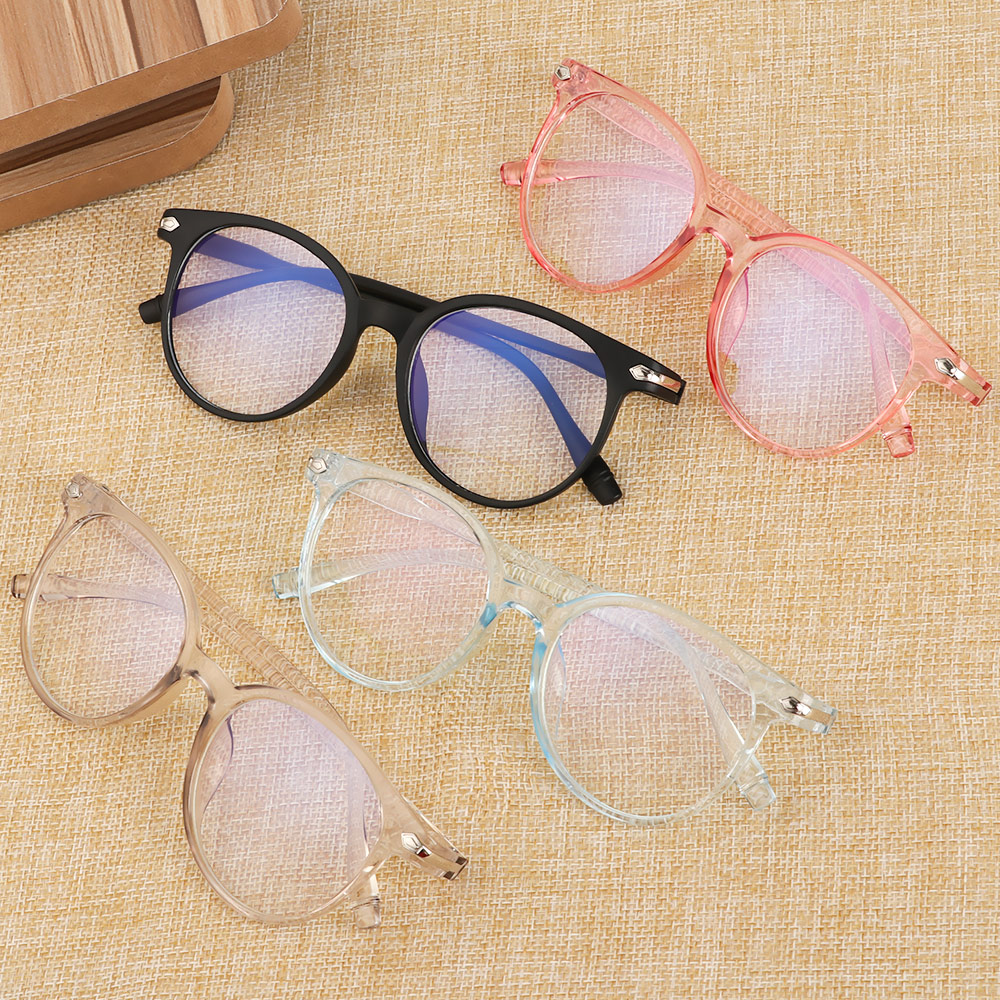 💋MAX Ultralight Computer Glasses Flexible Portable Fashion Eyeglasses Optical Eyewear Vision Care Women Men PC Frame&Resin Lens Transparent Glasses Frame...