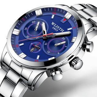 Đồng hồ nam WLISTH chính hãng, cá tính, mạnh mẽ, lịch lãm, lịch tháng tiện lợi, chống nước tốt, dây theps316L( Mã WM ) thumbnail