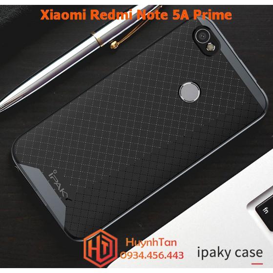 Xiaomi Redmi Note 5A Prime _ Ốp chống sốc viền nhựa giả kim chính hãng Ipaky bao check