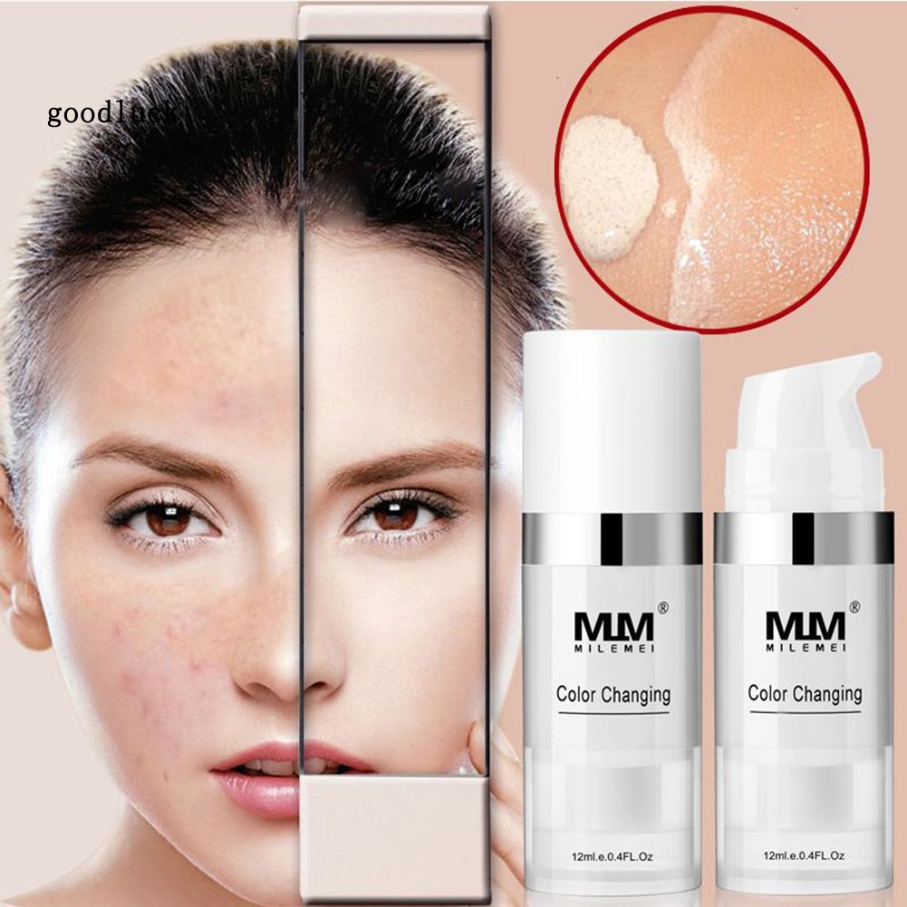 GLK_Milemei Color Changing Liquid Foundation Brightening Long Lasting Face Concealer