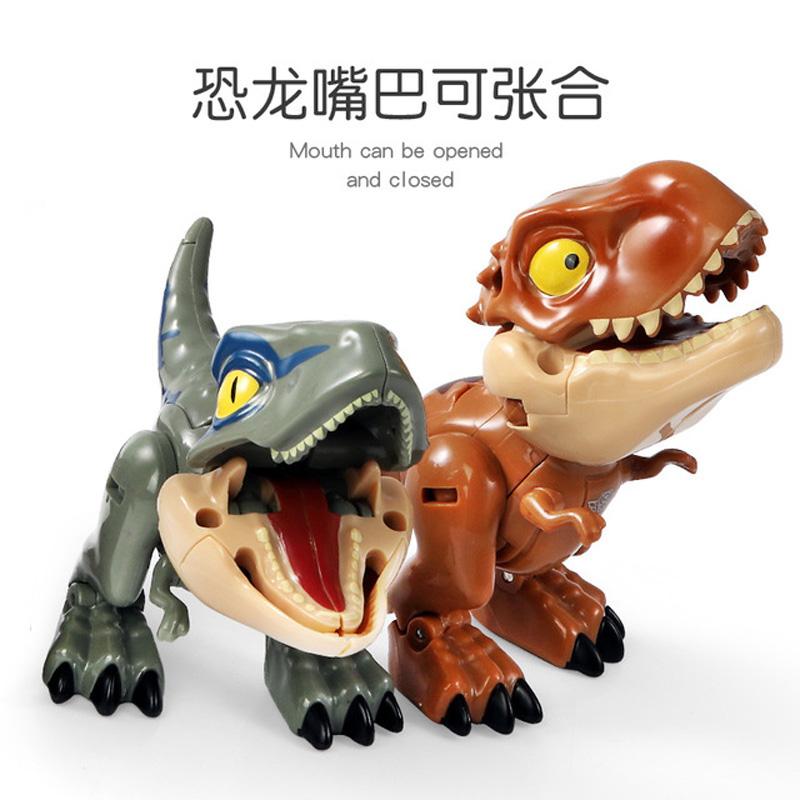 Adorable 4 Shapes Deformed Dinosaur Toys Tyrannosaurus Rex Robot Manicure Model Team Suit Rex Children Boy Gift