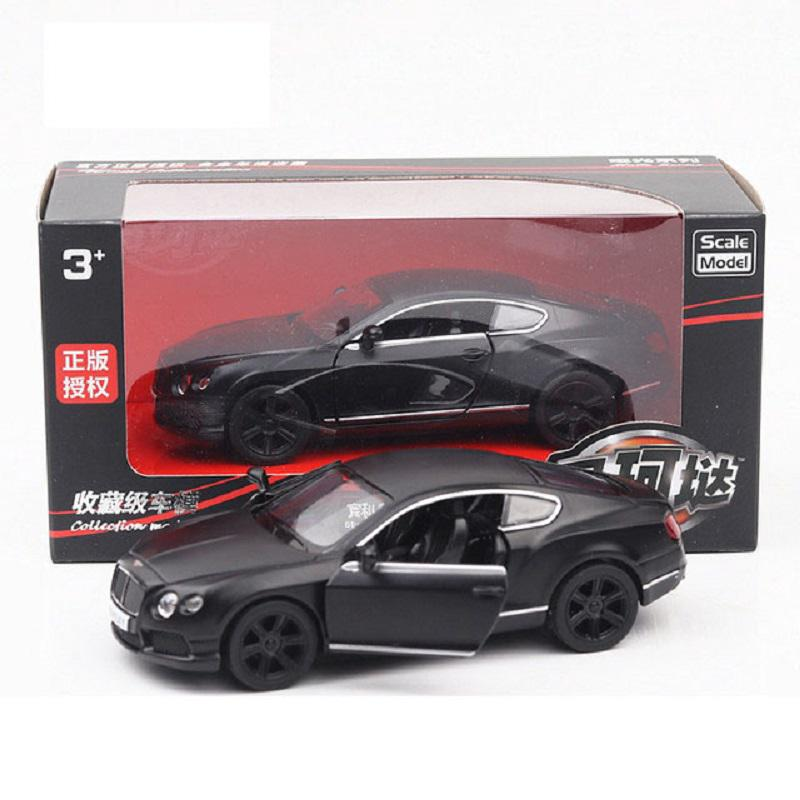 Matte Back Alloy Diecast Sports Car Bentley Lamborghini Model 1:36 Toy & Gifts Kid