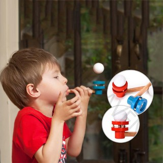Wooden Blowing Floating Flute Ball Educational Game Toy Gifts Children Kids Fun