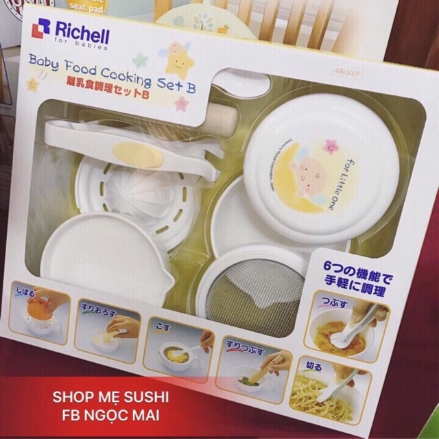 Bộ chế biến thức ăn dặm kiểu Nhật Richell 53371 - 2681634 , 60634208 , 322_60634208 , 469000 , Bo-che-bien-thuc-an-dam-kieu-Nhat-Richell-53371-322_60634208 , shopee.vn , Bộ chế biến thức ăn dặm kiểu Nhật Richell 53371