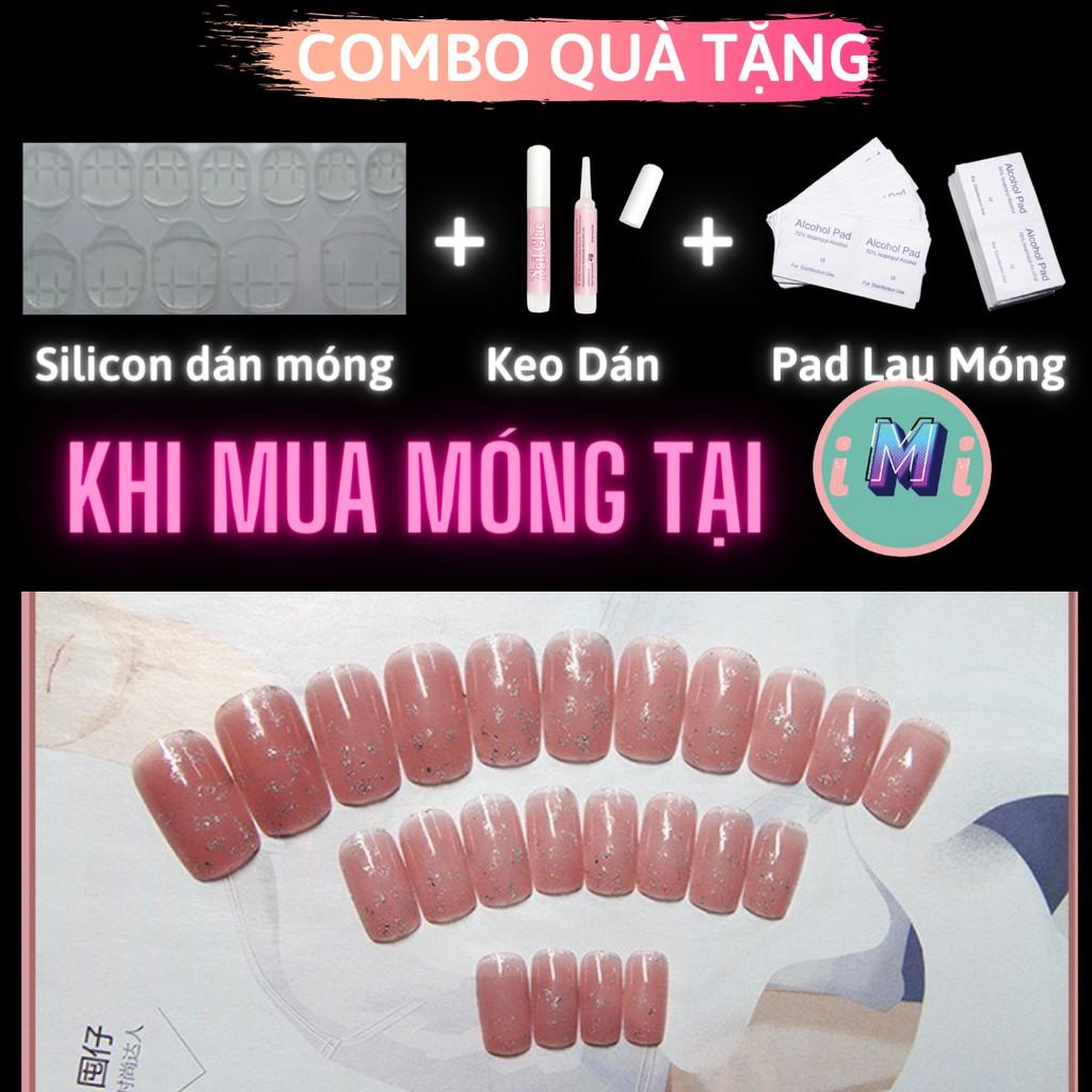 [Nhiều mẫu] Set 24 móng tay giả họa tiết 3D cao cấp tặng kèm keo dán, nail box