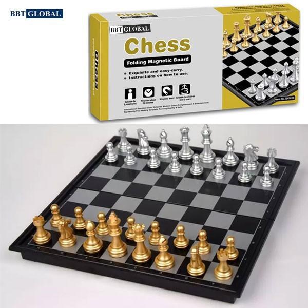 Bộ cờ vua vàng bạc nam châm BBT Global size 25cm, 36 cm, 48cm