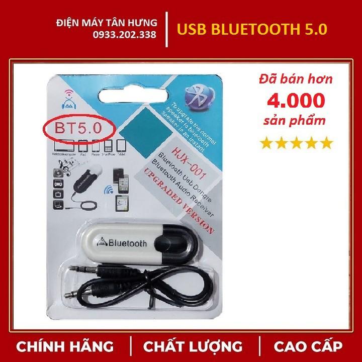 [LOẠI 1] USB Bluetooth DONGLE 5.0 & 4.0 HJX 001 loại 1 không nhiễu - dùng cho loa, amply, mixer, equalizer