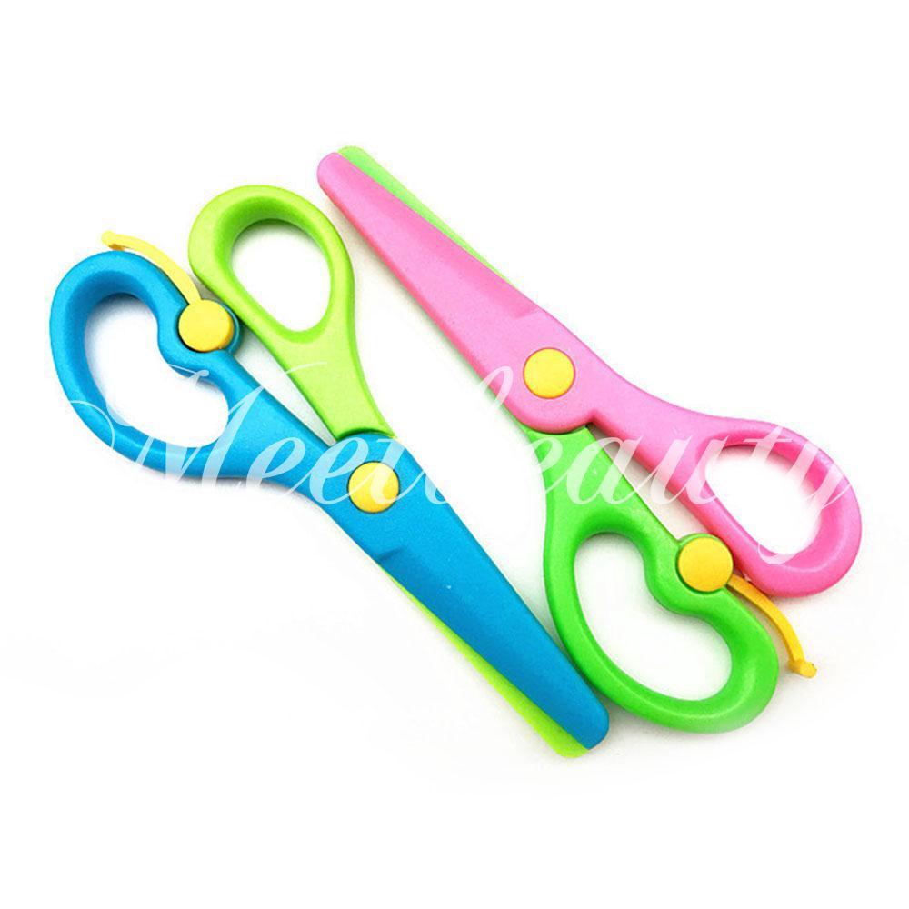 💕COD💕 Handmade Scissors Safe ABS Play House Plastic Scissors Hand-Eye Coordination