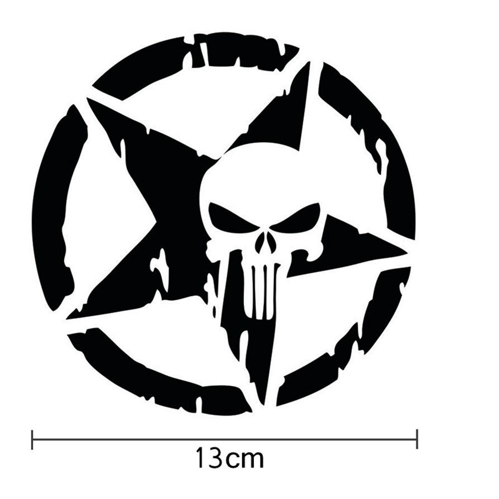 Miếng Dán Trang Trí Xe Hơi Hình Ngôi Sao Phản Quang 13x13cm